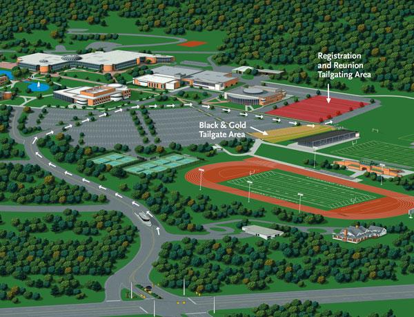 Bryant University Alumni Association   Tailgating Map